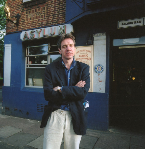 Andrew Martin outside the Asylum Tavern Peckham