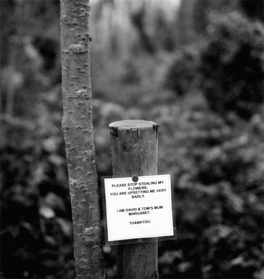 Sign in Abney Park Cemetery, London N16