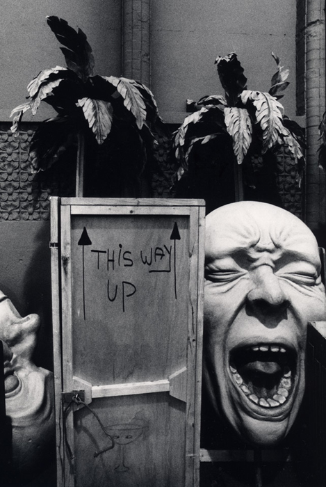 Props outside the Old Vic, London, 1988