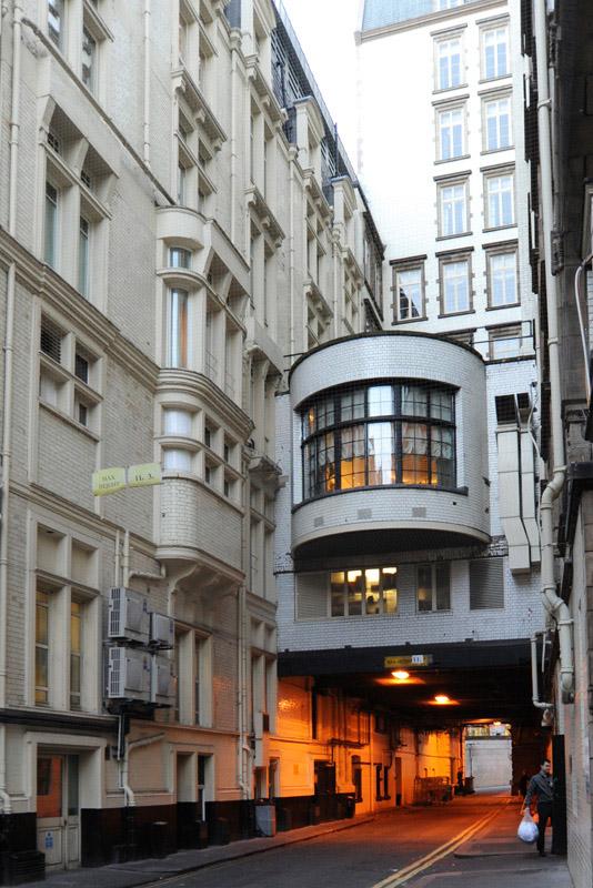 Rear entrance, Savoy Hotel, London, 2014