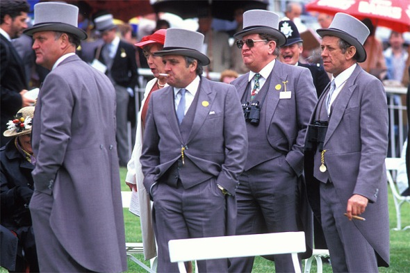 Members' enclosure, Derby Day, Epsom, UK, 1991.