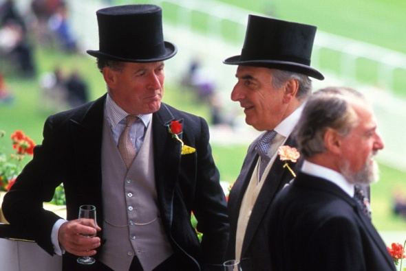 Royal box, Derby Day, Epsom, UK, 1991