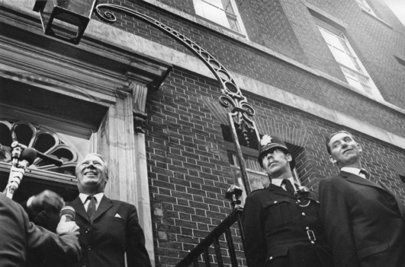 Edward Heath, 10 Downing St., election day, 1970