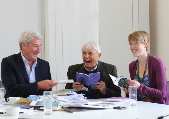 Jeremy Paxman, Dannie Abse, Helen Mort: Forward Poetry Prize jur
