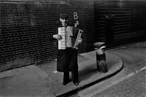 Street musician, Brick Lane 1978