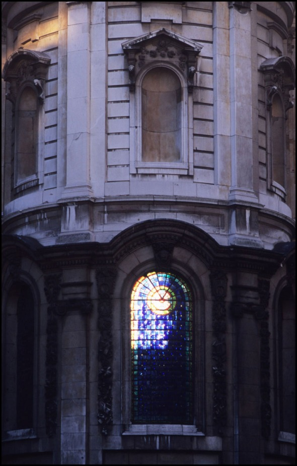 East window, St.Mary le Strand, London, 2010.