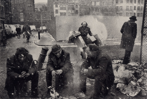 Homeless men, Spitalfields 1975