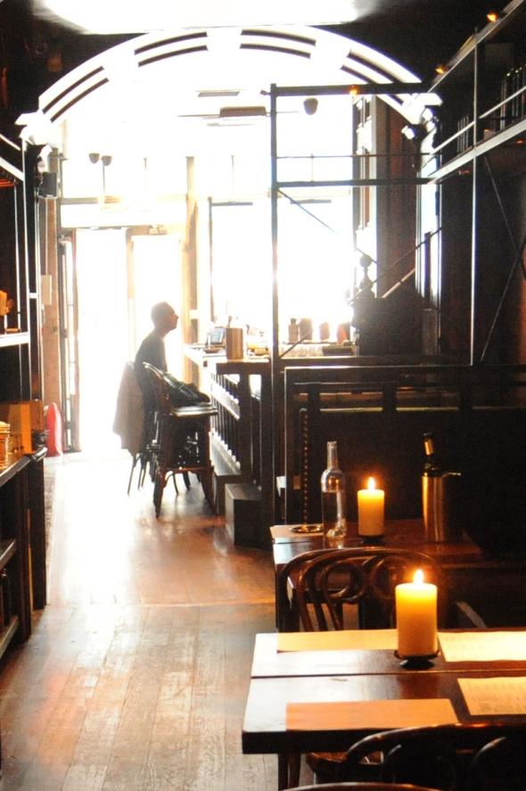 Interior of The Port House tapas bar, Strand, London, 2015.