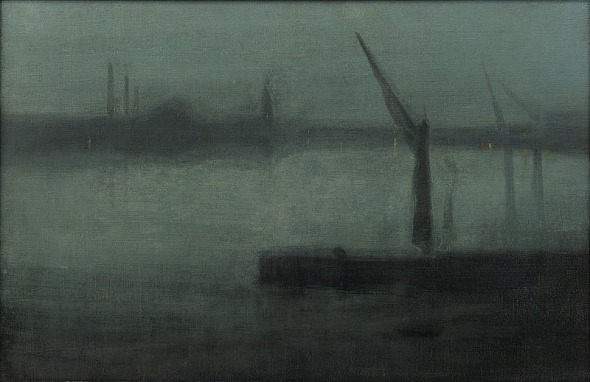 James McNeill Whistler: Nocturne: Blue and Silver (Battersea Reach) 1872.