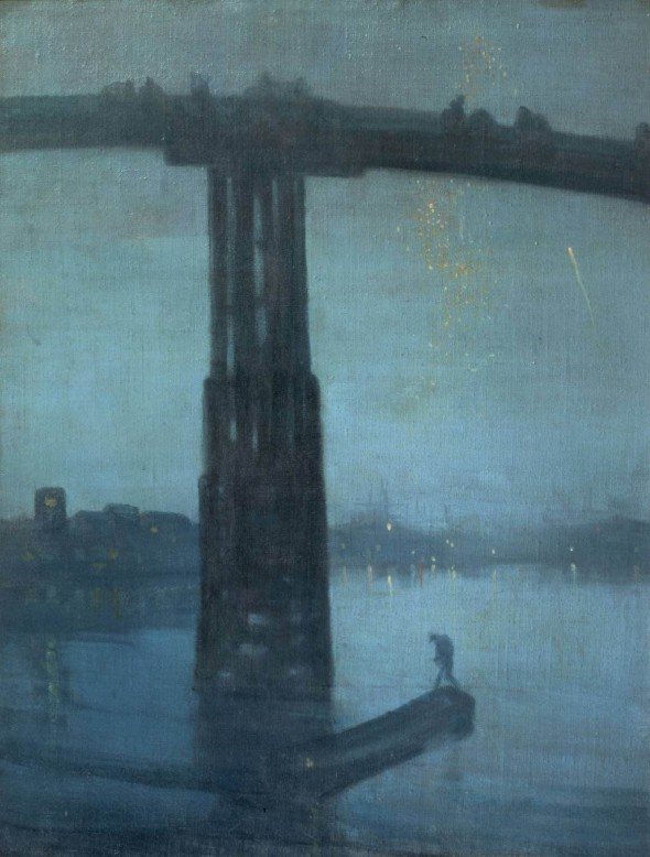 James McNeill Whistler: Nocturne: Blue and Gold (Old Battersea Bridge) 1872-5.