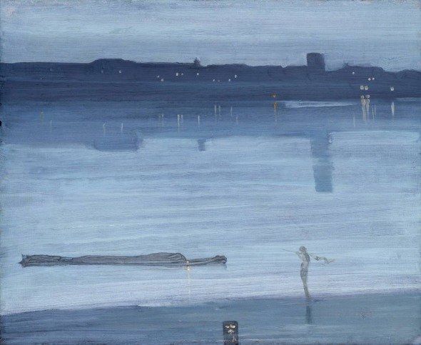 James McNeill Whistler: Nocturne: Blue and Silver - Chelsea 1871