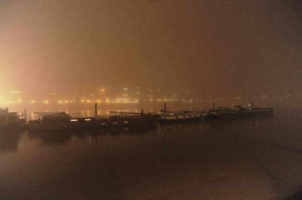 The Thames at Chelsea in fog, November 2015. © David Secombe