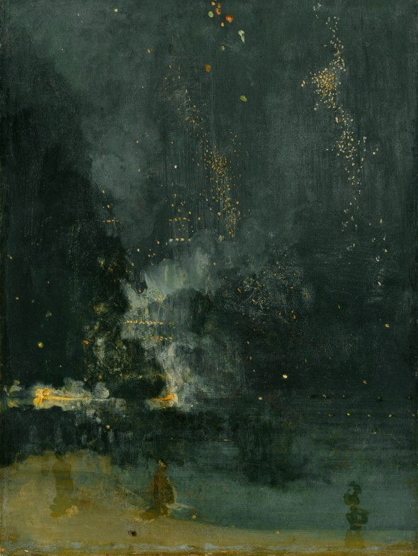James Abbott McNeill Whistler: Nocturne: Black and Gold (the falling rocket) 1875.