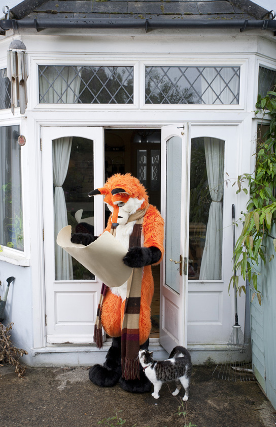 "From the series"" At Home With The Furries"" Throughout the year furries dress up in costume or fur-suit inspired by anthropomorphic characters from cartoons, comic strips, myths and videogames. The people inside the suits are by day computer programmers, engineers, mortgage brokers, lecturers even fursuit makers. Most furries have an affinity with animals but some also like to role-play or fursuit for fun. Over the course of a few years, I gained the trust of the furries in the UK and some of their members allowed me to visit them at home, these photographs were taken all over the country. Contact tom@tombroadbent.com for licensing rights"
